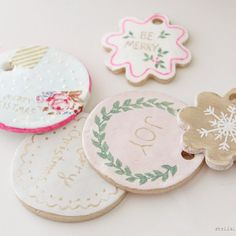 Create these pretty, clay, gift tags to adorn all of your Christmas gifts!