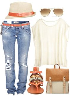 Idée et inspiration look d'été tendance 2017   Image   Description   Casual Spring/Summer outfit for 2014. Bright Sun-shining Day by mia7paty on Polyvore I seriously love this!