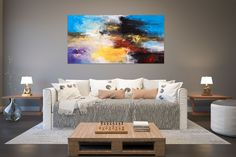 """Excellent """"modern abstract art mixed media"""" info is available on our site. Read more and you wont be sorry you did. Oversized Wall Decor, Oversized Canvas Art, Contemporary Artwork, Modern Wall Art, Modern Oil Painting, Painting Art, Above Bed Decor, Large Abstract Wall Art, Modern Art Movements"""