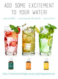 Add some excitement and flavor to your water with Essential Oils! I really couldn't be easier ... and it's good for you, too!