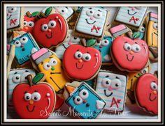 School Days Cookies For more cookies visit www.facebook.com/sweetmomentsintime