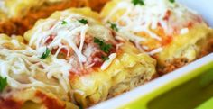 Spinach Lasagna Rolls Recipe Main Dishes with lasagna noodles, frozen chopped… Pasta Recipes, Chicken Recipes, Dinner Recipes, Cooking Recipes, Yummy Recipes, Pasta Meals, Healthy Recipes, Meal Recipes, Easy Cooking