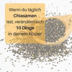 Chiasamen haben eine erstaunliche Wirkung. Man kann mit Chiasamen abnehmen, eine Darmreinigung machen und sie helfen bei unzähligen Krankheiten. Chiasamen Rezepte, Chiasamen Brot, Chiasamen gesund, Chiasamen Pudding, Chiasamen Frühsück, Chiasamen trinken, Chiasamen Zubereiten, Chiasamen giftig, Chiasamen zum Abnehmen Frühstück #diät mit chiasamen schnell abnehmen