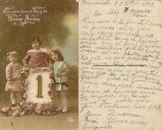 Bonne Année 1919 : photo des cousines de ma grand-mère paternelle