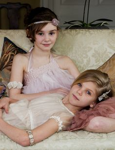 The girls certainly need a princess photo shoot. I'm sure their daddy will love it, too!