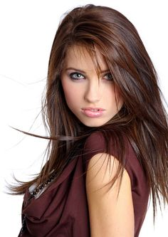 Dark Brown Hair With Red Highlights -- I would love for my hair to look like this!