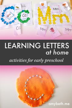 Lots of fun and simple activities to teach your preschooler the letters of the alphabet.