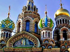 St. Petersburg > Cathedral domes, close up