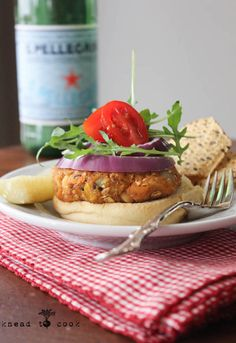 Packed with sweet potatoes and mustard and plenty of spices, these burgers are easy to make ahead and full of great flavors.