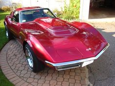 1970 Red Corvette Coupe