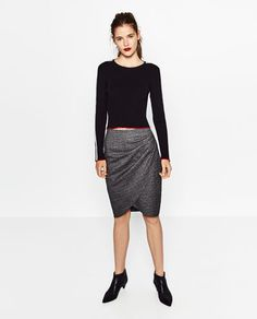 DRAPED SKIRT-View all-SKIRTS-WOMAN | ZARA United Kingdom