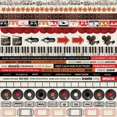 Kaisercraft - On Stage Collection - 12 x 12 Sticker Sheet