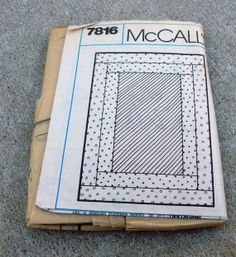 Never  Used Vintage McCalls Pattern 7816 by lovelylovedesigns, $2.99