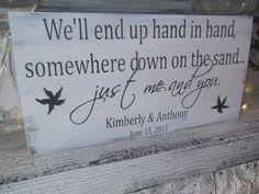 Customized beach wedding sign starfish Married by TristanAndJuJu