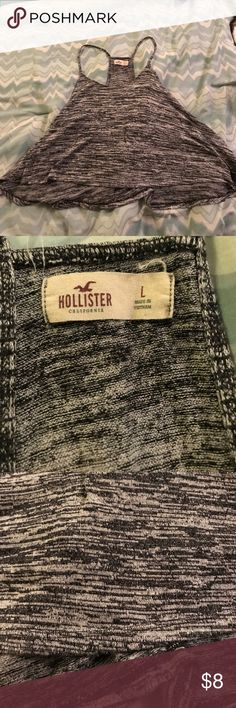 Hollister tank top size L Hollister cropped tank top size L Hollister Tops Crop Tops