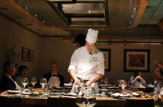 Chef cooking on the teppan at The Matsuri Japanese fine dining resturant in St James, London In Pursuit, Saint James, Fine Dining, Chefs, Restaurants, Saints, Japanese, London, Dinner