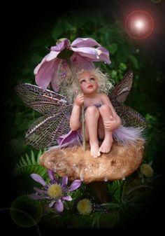 Fairy in the rain.