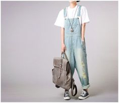 IRoomy Denim Overalls Fabric Type: Denim Material: Cotton Length: Ankle-Length Pants
