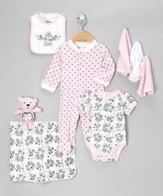 Take a look at the Cutie Pie Baby Pink Sweetie Nine-Piece Layette Set - Infant on #zulily today!
