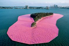 Surrounded Islands by Christo & Jeanne-Claude. #installation #art