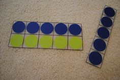 """Ten frames from placemats at walmart...First Grader...at Last!: Ten Frames and """"Shake Up"""" Games"""