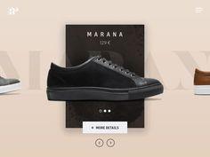 Product list design and animation by Julien Pianetti Minimal Web Design, Newsletter Design, Fashion Website Design, Shoe Advertising, Shoe Poster, Shoes Ads, Product List, Ui Design Inspiration, Animation