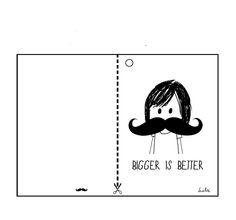 #Moustache mania: biglietto di auguri #Liu & #Lai in love
