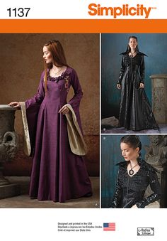 Simplicity pattern 1137 - Sansa's black dress! Can't wait til the next pattern sale at Jo-Ann's! -SB