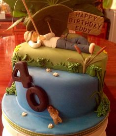 Fishing  - Cake by Nanna Lyn Cakes