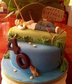 Fishing  - Cake by Nanna Lyn Cakes