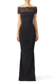 Rent Black Nasira Gown by La Petite Robe di Chiara Boni for $150 only at Rent the Runway.