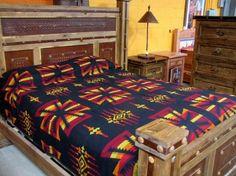 Southwest Cowboy Queen Bedspread