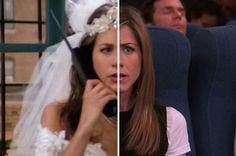 "The Cast Of ""Friends"" On The First Episode Vs. The Last Episode - you can slide the image to compare the two! Awesome!"