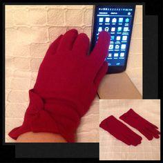 ÉCRAN TACTILE gants pour les femmes Rouge Foncé, des Gants, Gants Hiver, Rouge Accessoire, Mode Femme, Paques Cadeau, Cadeau pour la fête des Mères