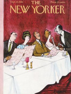 Charles Saxon : Cover art for The New Yorker 1909 - 16 September 1961