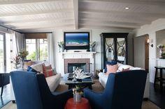 Laguna Cottage - traditional - family room - los angeles - Darci Goodman Design