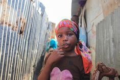 JACEK PAWLICKI PICTURES: Somalia, Girl from Refugee Camp in Mogadishu, Marc...