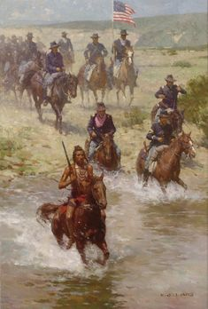 The Crow Scout 36x24 inches Fine Art oil painting by Z. S. Liang