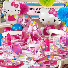 Don't miss out on our Hello Kitty Party Supplies! You can throw her a Hello Kitty party that is out of this world! Birthday Express will provide you with all the materials you need to make it happen. Girl Birthday Themes, Bday Girl, 4th Birthday Parties, Birthday Ideas, 3rd Birthday, September Birthday, Birthday Stuff, Slumber Parties, Hello Kitty Party Supplies