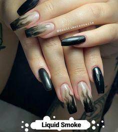 Liquid Smoke, Facebook, Nails, Beauty, Instagram, Fiberglass Nails, Finger Nails, Ongles, Beauty Illustration