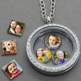 DIY: Glass Locket W/ Floating Photo Charms Kit...What A Great Personal Touch To Give Or Keep For Yourself...Click On Picture To Link For All The Supplies You'll Need To Make Them...
