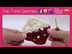 Crochet Two Tone Granny Squares