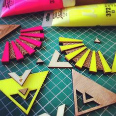Les Petites Découpes -colliers #wood #lasercut