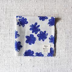 Khadi Print Handkerchief Blue | Suno  Morrison Online Store