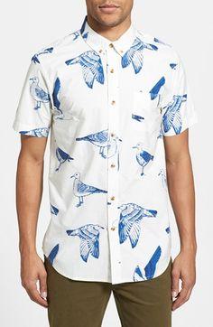 Obey 'Seagull Port' Short Sleeve Print Shirt | Nordstrom