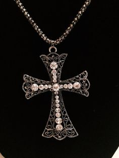 Cross Necklace by KelsysCharm on Etsy, $15.00