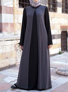 Dress and Gown This practical, traditional 2-piece dress and gown combination is for a modest and dignified look. Both pieces can be worn as separates as well, offering you great mix-and-match wardrobe possibilities. Price: £59.95 #shukr www.shukrclothing.com