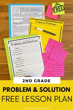 Download this free 2nd grade fiction reading lesson plan. It includes activities for problems and solutions, or character challenge and response for standard RL.2.3. You will get a lesson plan and 3 hands-on practice activities for problem and solution for your second grade students. Fluency Activities, Grammar Activities, Reading Activities, Educational Activities, Reading Lesson Plans, Reading Lessons, Common Core Ela, Free Teaching Resources, 2nd Grade Reading