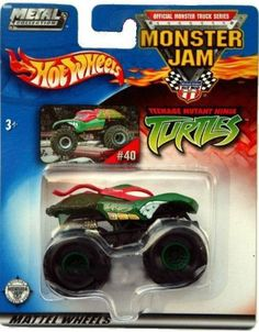 Amazon.com: 2002 hot wheels METAL COLLECTION monster jam TEENAGE MUTANT ninja turtle #40 VERY HARD TO FIND: Toys & Games