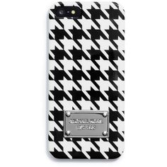 MICHAEL Michael Kors Houndstooth Phone Cover found on Polyvore